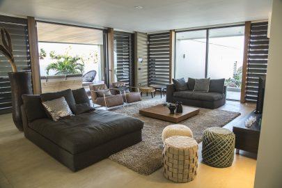 luxe woonkamer villa curacao