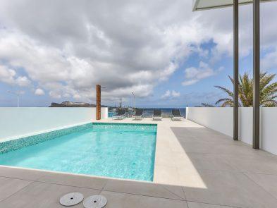 zwembad penthouse villa curacao