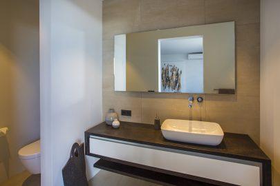 moderne badkamer vakantiewoning curacao