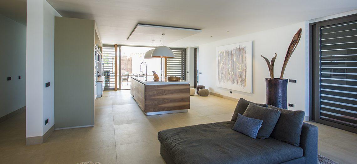 woonkamer vakantiewoning Curacao