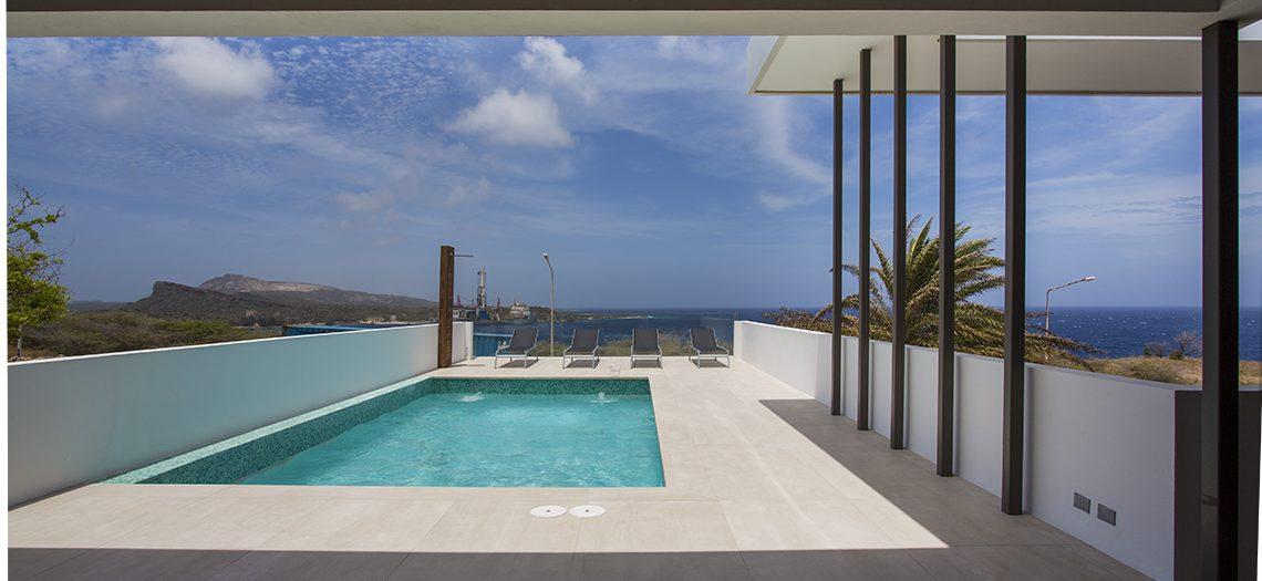 zwembad villa penthouse Curacao